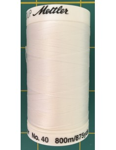 Hilo 100% polyester Mettler Poly Sheen col blanco
