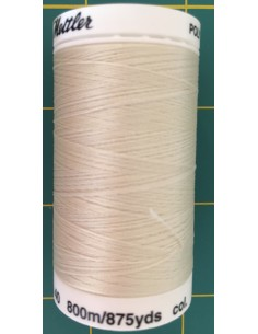 Hilo 100% polyester Mettler Poly Sheen col beis