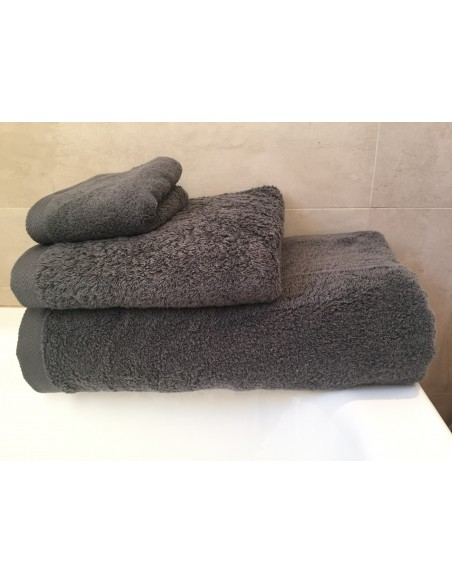Toalla algodón egipcio antracita