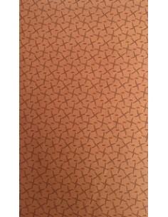 Tela patchwork color galleta con pequeños dibujos en rojo y oscuro, Colección básicos