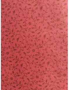 Tela patchwork rosa flores marrones, Colección básicos