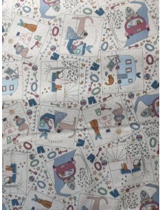 Tela patchwork Panel beis Summer Holiday Lynette Anderson