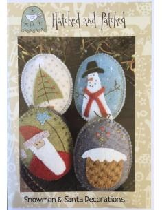 Adorno árbol colgante lana Snowmen Santa Decorations Anni Downs