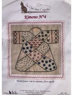 Kit Kimono bordado nº4 Un Chat Dans l´aguille
