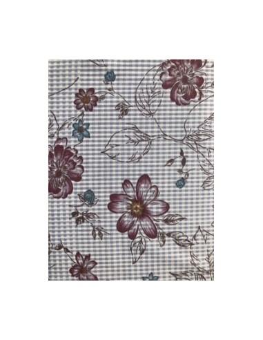 Tela patchwork beis con flores de la colección My Back Porche de One Sister