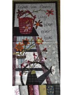 Tela panel patchwork de la colección My Back Porch de One Sister