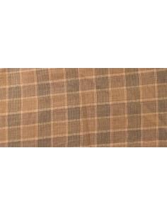Tela patchwork japonesa cuadros beis, marrón y grises
