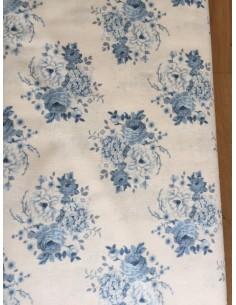 Tela Patchwork Tilda Flores grandes azules oscuras