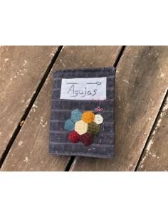 Kit Librito guarda-agujas bordado y aplicaciones lana Slowlife in Spring