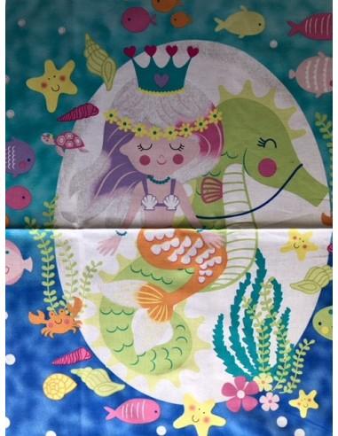 Panel Mermaid Wishes glitter brillante
