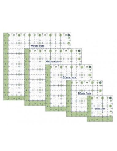 Pack de 4 reglas patchwork pulgadas cuadradas de Lori Holt verdes