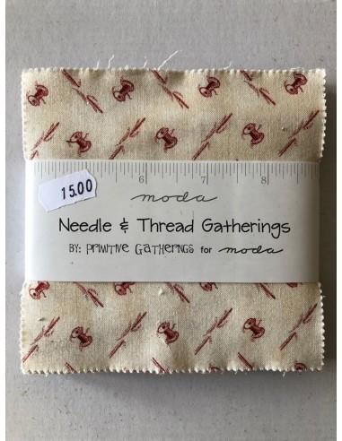 Telas precortadas Layer Cake Primitive Gatherings Snowman Gathering III