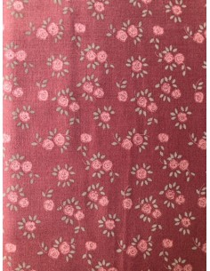Tela patchwork  rosa con flores Veronique Requena colección Country Chic