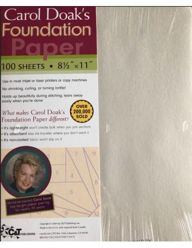 Papel Foundation paper Carol Doak´s 100 hojas