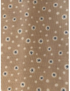Tela patchwork Anni Downs tostado claro estrellas azules Home for Christmas