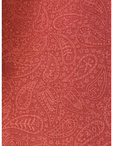Tela patchwork Anni Downs roja con dibujos Cashmere Anni Downs Home for Christmas