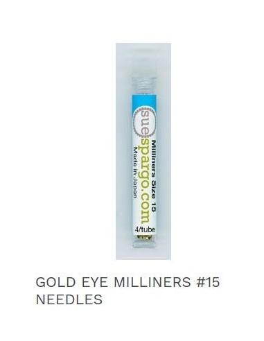 Agujas Gold eye milliners 15 Sue Spargo