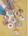 Patrón colgante embroidery necklaces