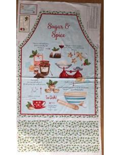 Panel delantales Sugar and spice karen tye bentley Northcott