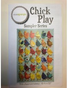 Patrón con regla Chick Play Sue Spargo