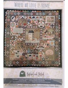 Patrón quilt Where We Love Is Home de Anni Downs