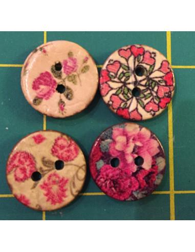 Pack de 4 botones coco pequeños