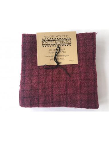 Charm Wool precortados de lana Red Grape