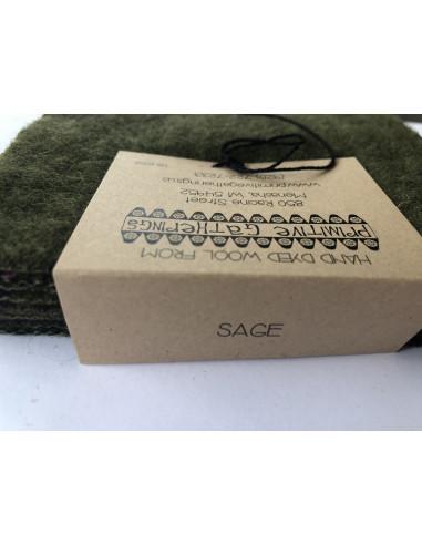 Charm Wool precortados de lana Sage