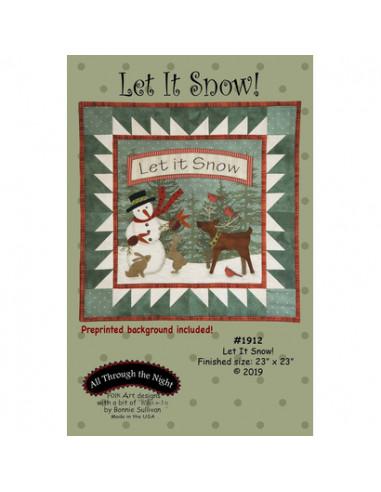 Patrón con tela impresa Let it Snow!...