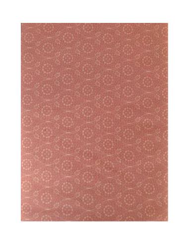 Tela simétrica beis con fondo rosa de...