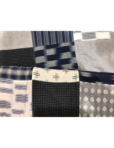 Tela patchwork cuadrados mezcla boro...