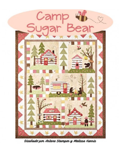 Kit quilt Camp Sugar Bear de Arlene...