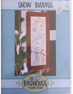 Patrón bordado con tela pintada Snow Buddies, The Bird House