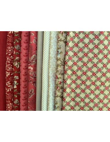 Pack de 10 telas 25 x 55 cm La Rose...