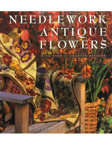 Libro Needlework Antique Flowers