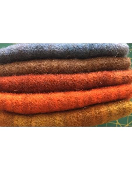 Chunks 5 telas lana afieltrada patchwork Autumn