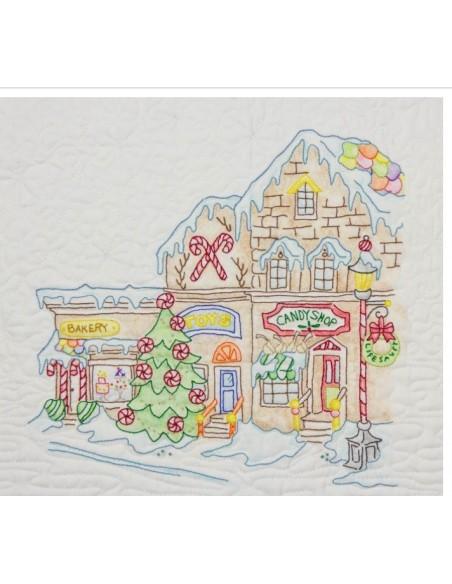 Quilt completo Gingerbread Square Crab Apple Hill bordado