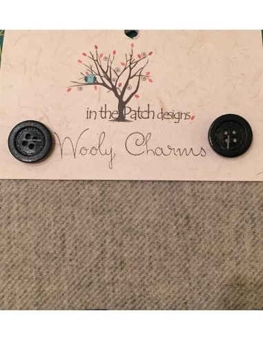 Wooly Charm tela lana aplicaciones gris-negro