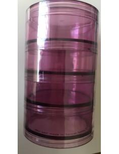 Cajas de plástico apilables en rosa 70mm