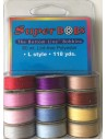 12 bobinas colores alegres de hilo Bottom Line aplicación patchwork