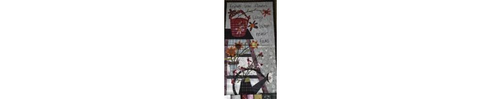 Tela patchwork gris de la colección My Back Porche de One Sister