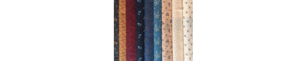 Telas patchwork algodón básicas para aplicaciones.