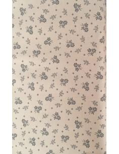 Tela patchwork marrón claro tostado con pequeñas flores en oscuro, Colección básicos