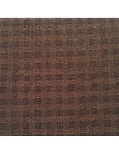 Tela patchwork japonesa tramada marrón oscuro