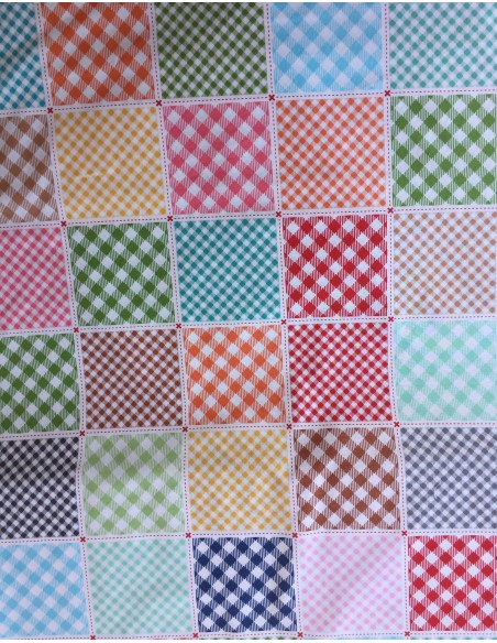 Tela panel en claros Multi Basics busy patchwork de Lori Holt