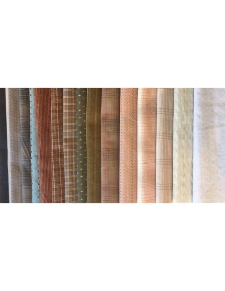 Pack 15 telas japonesas tramadas colores