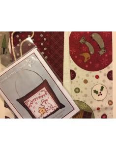 kit colección con 1 Bordado Galleta Ginger. Red Work Adorno puertas Navidad Lynette Anderson