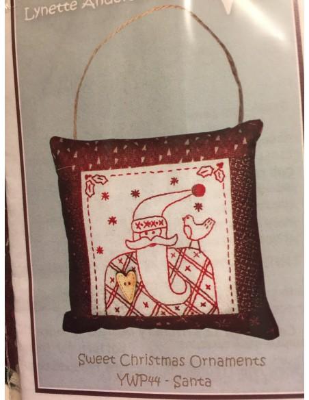 kit colección con 1 Bordado Papá Noel. Red Work Adorno puertas Navidad Lynette Anderson