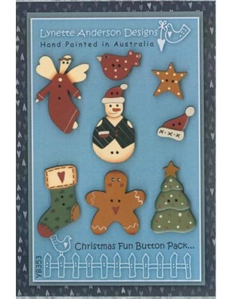 Christmas Fun patrón más botones Reserva