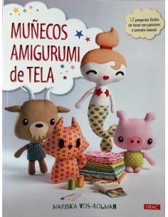 Libro Muñecos Amigurumi de Tela Editorial Drac Mariska Vos-Bolman